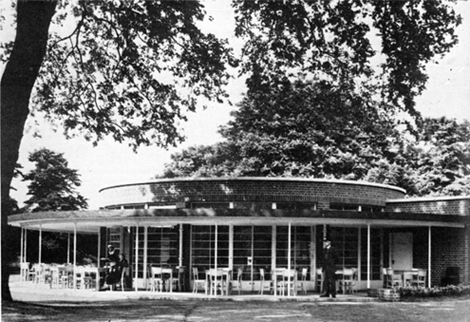 Battersea Park Cafe by the lake_Historic Photograph