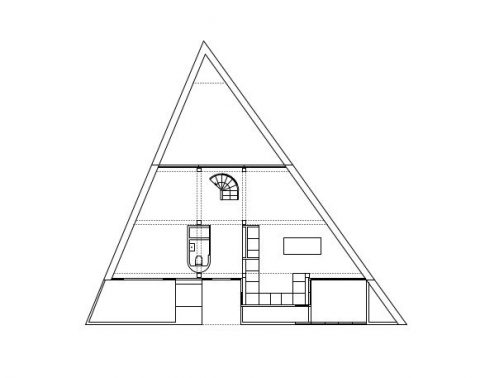 Detached house on a triangular plot. The project is based in south London. 31/44 Architects.